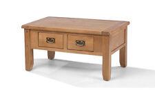 Rustic Oak Small Coffee Table With Drawers | Aylesbury Range