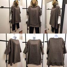 Veritecoeur Japan OS Tunic Sweater Brown Bark Wool Polyester Acrylic Nylon