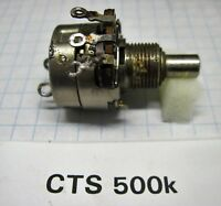 Vintage CTS potentiometer with power snap switch 1K - 500K, 550k - 1M see list p