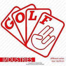 Golf cartes shocker 12x10 car sticker voiture autocollant massif JDM Fun shocker