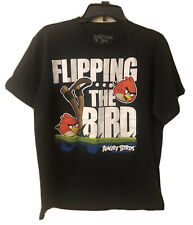Angry Birds Fifth Sun Young Men's  Size Large Graphic T Shirt Black