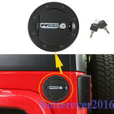 1941 Style Fuel Filler Cover Gas Tank Cap with Key For 2007-17 Jeep Wrangler JK