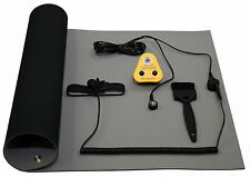 ESD, Anti-Static Earth Bench Mat (size 600 x 500mm) & Grounding UK Plug Kit