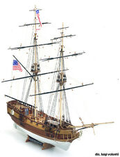 """Popular, Intricate Wooden Model Ship Kit by Mamoli: the """"Blue Shadow"""""""
