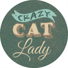 New listing Single Round Absorbent Stone Car Coaster-Crazy Cat Lady-by Carson Home Accents