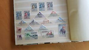 Briefmarkensammlung Kongo Laos und 2 aus Südafrika Anfang 60er Jahre