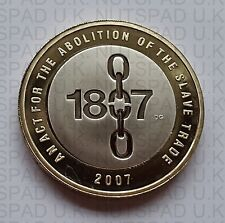 2007 PROOF £2 coin Abolition Of The Slave Trade two pound Commemorative