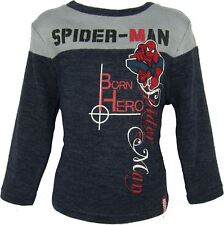 Boys Spiderman Knitted Pullover / Sweater Grey-3 Years / 96 cm