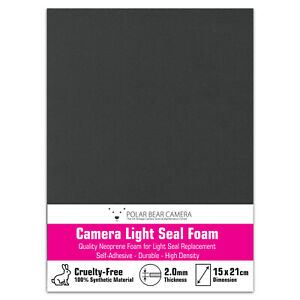2mm Self-Adhesive Film Camera Repair Light Seal Foam Sheet 15cm x 21cm