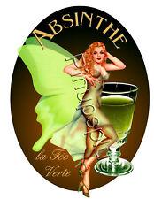 The Green Fairy Absinthe Pinup Girl Waterslide Decal Sticker La Fee Verte S334