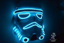 Star Wars Stormtrooper Force Awakens Halloween Costume Rave Party Neon BLUE Mask