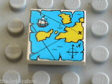 LEGO PIRATES Tile map ref 3068bp30 / Set 6285 10040 6274 6279 6268 6263 6286 ...