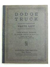 1938 Dodge Truck Model Series Parts List Catalog Book Original OEM D4729