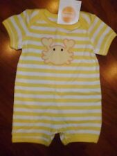 0 3 M Gymboree Yellow CRAB Seashore Romper Shorts Boy Girl New Born Gift NWT