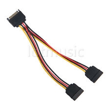 1pc 20cm SATA Power T/Y Splitter Extension Cable Adapter