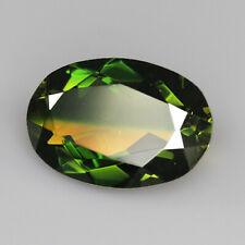 8.8Ct Man Made Bi Color Glass Yellow Green Oval Cut MQYG20