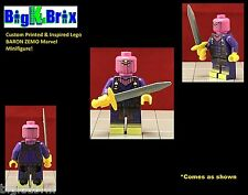 BARON ZEMO Custom Printed & Inspired Lego Marvel Minifigure with Custom Gear!!
