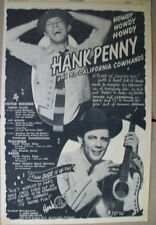 Hank Penny and his California Cowhands 19551 Ad- A Plain Ol Country Boy  Victor
