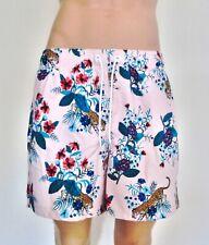 Hollister Mens Guard Fit Swim Trunks Shorts Floral Leopard Print Medium RRP £29