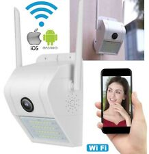 IP Camera WIFI Esterno 2MP 1080P LED Lampada SOLARE IP66 TELECAMERA CAM SD REC