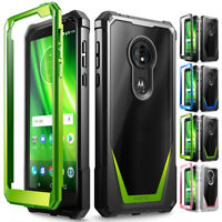 For Moto G6 Play Poetic Guardian w/ Built-in-Screen Protector Case Cover 4 Color