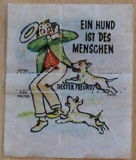 Rarität - Kaugummibild – Ein Hund ist des Menschen bester Freund - Rarität!!!