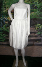 FANCY BRIDAL NY WEDDING GOWN DRESS SHORT WHITE 6 STRAPLESS VINTAGE INSPIRED