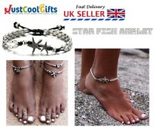 HOLIDAY SILVER VINTAGE ANKLE BRACELET STARFISH ANKLET WOMEN BUDDHA UK SELLER