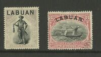 North Borneo Over Print Labuan Early Stamps Good Condition Old Collection