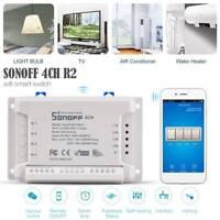 Sonoff 4CH R2 4 Gang Inching Self-Locking Interlock WiFi Smart Switch