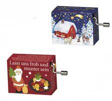 Weihnacht Spieluhr / merry Christmas / lasst uns froh und munter Minidrehorgel