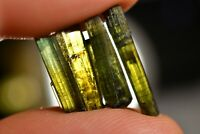 4 GREEN TOURMALINE CRYSTALS 1-2cm Clear Natural Healing Specimens