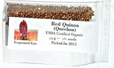 175 USDA Organic Red Quinoa Grain Sprouting Seed Non GMO Freshly Packed For 2017