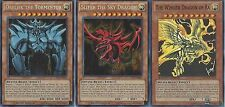 Yugioh Egyptian God Tournament Legal Set - Obelisk + Slifer + The  *HOT* + Bonus