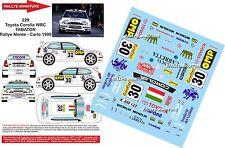 DÉCALS 1/18 réf 229 Toyota Corolla WRC TABATON Rallye Monte - Carlo 1999