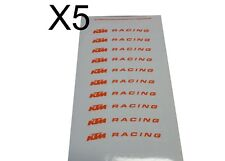 5X KTM Racing Stickers Decal Sheet