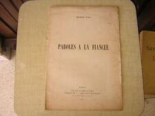 1893.paroles à la fiancée / Maurice Pujo