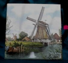 Dutch Windmill Tile JC Van Hunnik Signed Made In Holland never used
