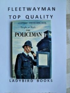 VINTAGE LADYBIRD BOOK - PEOPLE AT WORK THE POLICEMAN + D/J - 1ST EDITION - 1962