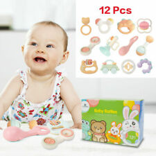 Cute Infant Baby Toys Teether Hand Shaker Rattles Bell Ring For Children Music