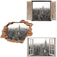Window Wall Sticker Decal Vinyl 3D New york Skyline home art room decor