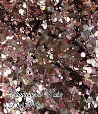 Uñas de Gel Glitter puntos Mixtas/Acrílico Uñas Oro Rosa 5g Bolsa Champagne Rose
