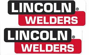 Lincoln Welders Racing Decals Stickers 8 Inches Long Size Set of 2