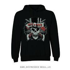 Guns N' Roses Hooded Top: Distressed Skull - 2XL Hoody Jumper Long Sleeve