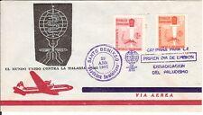 Malaria Paludisme 1962 fdc Dominican Rep. + 2c