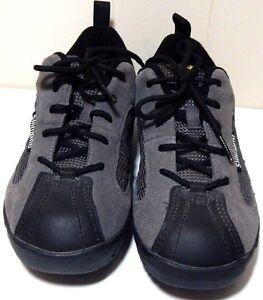 Shimano Men's Sz 39 6 Mountain Biking Shoes SH-MT20D Gray Suede Cycling EUC
