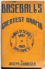 1946 Baseball's Greatest Drama Signed by HOF Pie Traynor & Myron O'Brisky