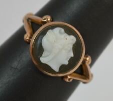 Antique 9ct Rose Gold EROS Cameo Signet Ring t0396