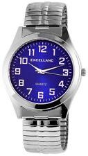 Excellanc Herrenuhr Zifferblatt Blau Zugband silberfarbig  SE680