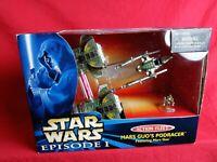 1999 Vintage Star Wars Episode 1 Action Fleet Mars Guo's Podracer with Figure